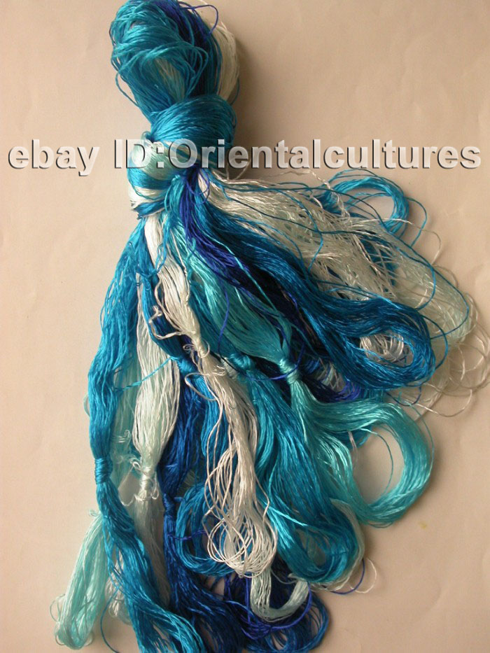 Chinese Natural Silk Hand-Dyed Embroidery Floss/Thread | EBay