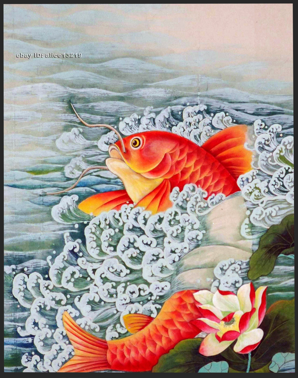 Details about chinese natural mulberry silk threadsu hand embroidery kitslotus fish red carp